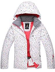 abordables -Mujer Chaqueta de Esquí Templado Impermeable Mantiene abrigado Resistente al Viento Esquí A prueba de Viento Tapa Desmontable Esquí
