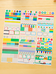 baratos -6 pcs / set pvc diary sticker etiqueta do telefone etiquetas scrapbook