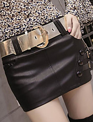 cheap -Women's Going out Club Mini Skirts A Line Solid Fall Winter