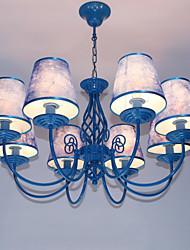 baratos -Moderno / Contemporâneo Lustres Luz Ambiente - Estilo Vela, 110-120V 220-240V Lâmpada Não Incluída