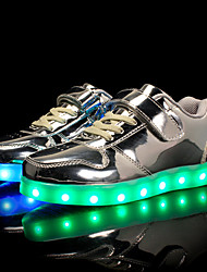 cheap -Boys' Shoes Patent Leather Customized Materials All Season Light Up Shoes Comfort Sneakers Magic Tape LED Lace-up For Casual Outdoor Pink