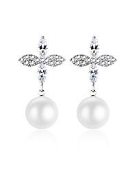 economico -Per donna Orecchini a bottone Orecchini a goccia Zircone cubico Perle finte Dolce Adorabile Di tendenza Ipoallergenico Elegant Rame