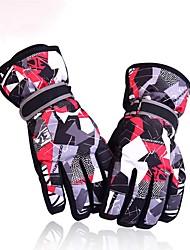 Luvas de Inverno Luvas de Esqui Homens Mulheres Dedo Total Manter Quente Prova-de-Água Esqui Fibra de Nailom Esqui Inverno