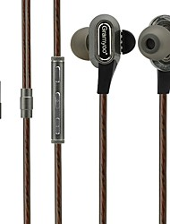 X68 In Ear Wired Headphones Dynamic Plastic Sport & Fitness Earphone Noise-isolating with Microphone Headset