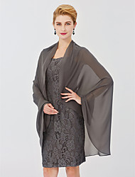 cheap -Sleeveless Chiffon Wedding Party / Evening Women's Wrap Shawls