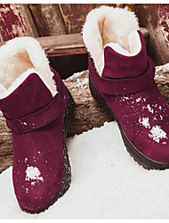 cheap -Women's Shoes Fur Winter Comfort / Snow Boots Boots Beige / Gray / Red