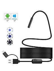 cheap -3 in 1 8mm USB Endoscope with 6 LED Waterproof IP67 5m Cable Inspection Borescop Camera Snake Video Cam for Android PC