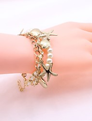 Women's Bracelet Imitation Pearl Simple Elegant Beads Alloy Shell Jewelry For Daily Casual