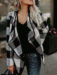 economico -Cappotto Da donna Per uscire Casual Vintage Moda città Autunno Inverno,A quadri Poliestere Standard