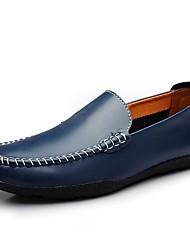 abordables -Homme Chaussures Similicuir Automne Confort Mocassins et Chaussons+D6148 pour Décontracté Blanc Noir Orange Bleu Brun claire