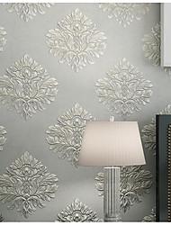 Blomstret Baggrund Til hjem Klassisk Vægbeklædning , Ikke vævet tekstil Materiale Lim påkrævet tapet , Værelse Tapet
