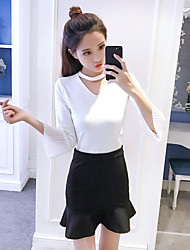 cheap -Women's Daily Casual Skirt Suits,Solid