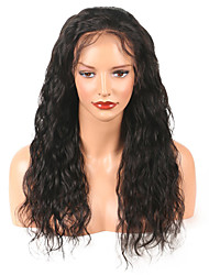 cheap -Remy Human Hair Lace Front Wig Chinese Hair Wavy With Baby Hair 130% Density 100% Virgin African American Wig Natural Hairline Medium Long