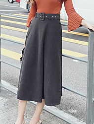 cheap -Women's Daily Midi Skirts Solid Winter