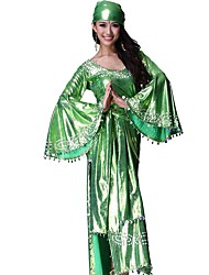 cheap -Gypsy Outfits Female Christmas Halloween Festival / Holiday Halloween Costumes Red Green