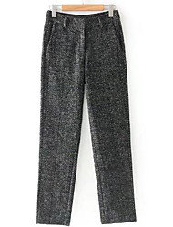 cheap -Women's Mid Rise Micro-elastic Business Pants,Casual Solid Polyester Autumn/Fall