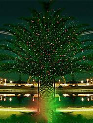 Недорогие -hkv® full sky звезда рождество лазерный проектор лампа зеленый&красный светодиодный свет этапа открытый пейзаж газон сад свет
