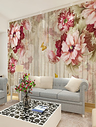 cheap -Floral Art Deco 3D Home Decoration Contemporary Classical Rustic Wall Covering, Canvas Material Adhesive required Mural, Room Wallcovering