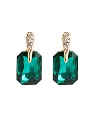 cheap -Women's Stud Earrings Basic Crystal Alloy Geometric Jewelry Black Green Gift Daily Costume Jewelry