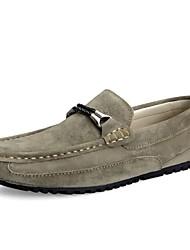 baratos -Homens sapatos Courino Primavera Outono Conforto Mocassins e Slip-Ons para Casual Cinzento Azul Khaki