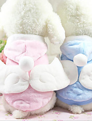 cheap -Cat Dog Coat Hoodie Dog Clothes Casual/Daily Keep Warm Angel & Devil Blue Pink Costume For Pets