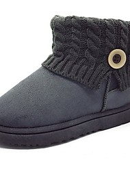 cheap -Women's Shoes Cashmere Fall Snow Boots Boots Round Toe Mid-Calf Boots Button For Casual Pink Gray Black