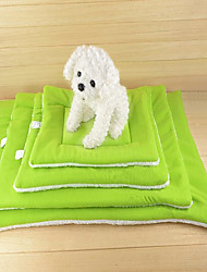 cheap -Cat Dog Bed Gasket Pet Blankets Solid Keep Warm Portable Double-Sided Blue Green Coffee Orange