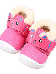 Baby Shoes Fabric Fall Winter Comfort First Walkers Flats For Casual Pink Brown