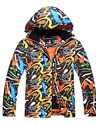 cheap -Unisex Ski Jacket Warm Waterproof Windproof Wearable Antistatic Breathability UV resistant Ski / Snowboard Hiking Cross Country