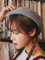 cheap -Women's Work Casual Wool Beret Hat - Solid, Stylish
