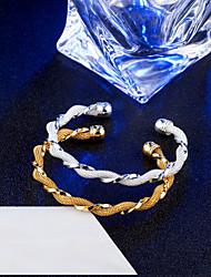 Naisten Rannerenkaat Rannekkeet Vintage Tyylikäs Titaaniteräs 18K Kultapäällystetty Korut Käyttötarkoitus Häät Kihlaus Päivittäin