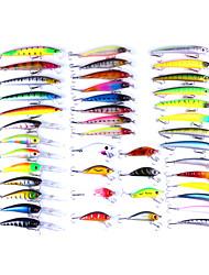 43 pc Esca Pesciolini Confezioni di esche g/Oncia mm pollice,Plastica Spinning Pesca con esca