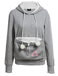 cheap -Women's Long Sleeves Cotton Hoodie - Solid, Stylish Pocket