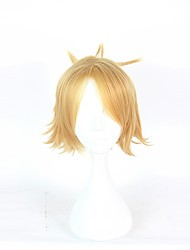 cheap -Women Synthetic Wig Capless Short Light Blonde Halloween Wig Cosplay Wig Costume Wig