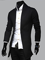 cheap -Men's Casual Long Sleeves Cardigan - Solid Colored V Neck