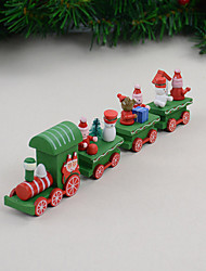 4 PCS/Set Christmas Gift Wooden Train Home Decoration Children Gift 21.5*5*3cm