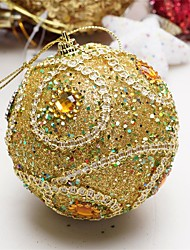 cheap -Christmas Decorations 8 Cm Luxury Sequins High-grade Dress Decorate Christmas Balls Christmas Tree To Hang Color Random