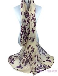 Feminino Chiffon Primavera/Outono/Inverno/Verão Todas as Estações Retângular,Animais Rosa Bege Cinzento Vinho Khaki