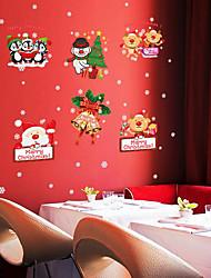 Natal Adesivos de Parede Árvores de Natal Autocolantes de Parede Decorativos,Latão Rosa Material Decoração para casa Decalque
