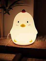 Недорогие -1шт LED Night Light Перезаряжаемый Диммируемая Работает от USB Теплый белый