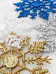 cheap -12Pcs/Bag Christmas Tree Window Decoration Artificial Snowflake For Christmas Party Ornaments