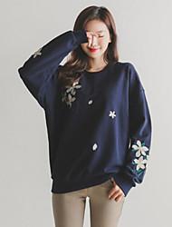 cheap -Women's Going out Sweatshirt Print Micro-elastic Cotton Fall