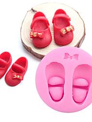 preiswerte -3d süße Baby Schuhe Silikon Kuchen Formen Gum Paste Schokolade diy Ton Süßigkeiten Fondant backen Werkzeuge
