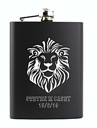 cheap -Personalized Stainless Steel Flasks 8-oz Gifts Flask  The Lion Hip Flask