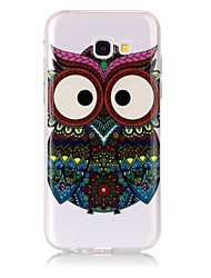 cheap -Case For Samsung Galaxy A5(2017) / A3(2017) Ultra-thin / Transparent / Embossed Back Cover Owl Soft TPU for A3(2017) / A5(2017)