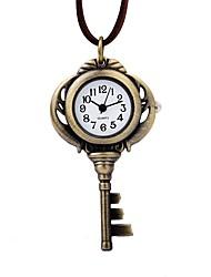 baratos -Mulheres Relógio de Bolso Chinês Quartzo Relógio Casual Couro Banda Elegant Marrom