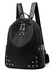 cheap -Women Bags Polyester Backpack Zipper for Casual All Season Black
