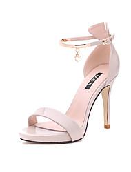 preiswerte -Damen Schuhe Pelz Frühling Sommer Gladiator Sandalen Stöckelabsatz Peep Toe Für Kleid Party & Festivität Schwarz Mandelfarben