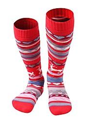 preiswerte -Blumen / Pflanzen Skisocken Kinder Socken Winter Schweißableitend Atmungsaktivität Skitourengehen Baumwolle Skifahren Wandern