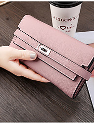cheap -Women's Bags PU Wallet Buttons Tiered for Event/Party Shopping All Seasons Blue Black Blushing Pink Gray Light Purple